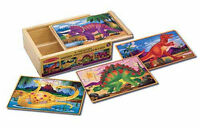 Melissa & Doug Dinosaurs Puzzles in a Box #3791 BRAND NEW