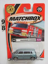 MATCHBOX 2001 #72 OF 75  VOLKSWAGEN MICROBUS KID'S CARS OF THE YEAR