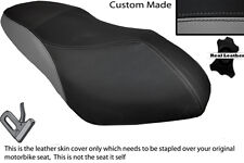 BLACK & GREY CUSTOM FITS PGO G MAX 125 DUAL LEATHER SEAT COVER ONLY