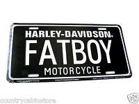 Harley Davidson Embossed License Plate Fat Boy FATBOY Car Auto Tag 6 X 12