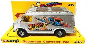 CORGI 1970s SUPERMAN CHEVROLET VAN 435 Diecast Model on Custom Display