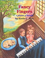 FANCY FINGERS, HYMN DUETS. SACRED BEGINNER PIANO. Christian, Pace Music, Gospel.