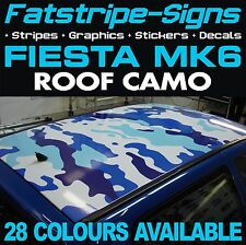 FORD FIESTA MK6 ROOF CAMO GRAPHICS STICKERS STRIPES DECALS CAMOUFLAGE ST ZETEC