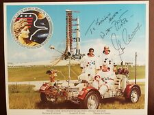 More details for apollo 17 astronaut and moonwalker gene cernan signed 10x8 photograph.