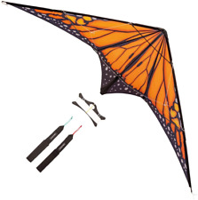 PaleonEarth Dual-line Stunt Kite with a 90 Inch Wingspan and Monarch-Inspired