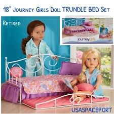 "18"" Doll Floral Bloomin TRUNDLE BED + Bedding Set for Journey American Girl Bunk"