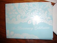 Anniversary Invitation~Blue & White Floral Design~Hallmark Stationary &Envelopes
