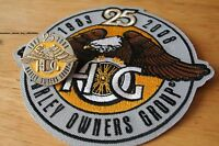 25th Anniversary HOG Pin & Patch set HARLEY DAVIDSON OWNERS GROUP 1983-2008