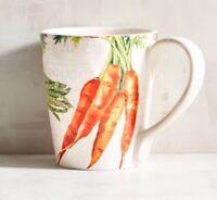 Pier 1 FARMERS MARKET Coffee Mug Cup VEGETABLES Carrots Asparagus Tomatoes NWT