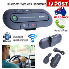 Wireless Bluetooth Hands-free Car Charger Sun Visor Speakerphone Car Kit AU
