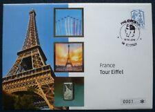 Francia 2015 NUMISBRIEF Tour Eiffel moneta Salomon $1/2 Argento Lettera n. 0001