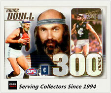 Select AFL 300 Game Case Card: 2011 Infinity CC41 Bruce Doull (Carlton)