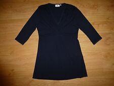 Women's Noa Noa Lace Navy ¾ Sleeve V Neck Viscose Dress Size M