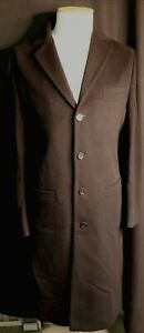 Miu Miu Men's Single Breasted Wool Blend Coat Black size M RRP £1890.00