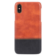 Phone Case Hybrid 3D Luxury Leather Hard Armor Case Cover For iPhone X 6 6S 7 8