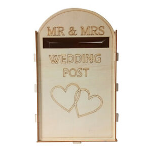 Card Holder Guest Wedding Post Box Gift Wooden DIY Decoration Party Supplies