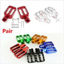 Pair Pit Bike Foot Pegs Rests Footpegs For MX CRF50 XR50 PW50 PW80 KLX110 TTR50