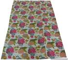 Kantha Quilt : Indian Handmade Floral Kantha Quilt Throw Embroidered Bedspread