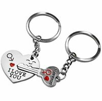 Love Heart and Key Keychain, 2 Piece Set Friend Birthday Anniversary Valentines