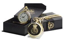 BRITISH ARMY CADETS 24K GOLD Clad Cadet Pocket Watch in Luxury Gift Case