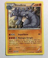 Carte Pokémon Rhinoféros Pv100 61/146