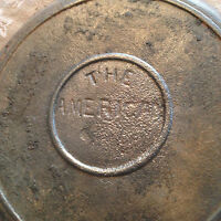 American Cast Iron Waffle Iron Patent 1880 VINTAGE