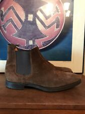 Crockett & Jones Barney's New York Brown suede Chelsea Boots Mens 12 UK US 13