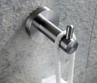 Brushed Nickel Stainless Steel Bathroom Single Robe Coat Hat Towel Hanger Hook