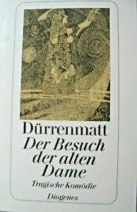 """Dürrenmatt """"Der Besuch der alten Dame"""" Tragische Komödie Diogenes-TB"""