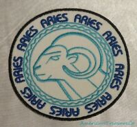 Embroidered Retro Horoscope Astrology Aries The Ram Sign Patch Iron On Sew USA