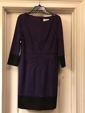Jessica Simpson Long Sleeved Purple/Black Dress Sz 12 Brand New With Tags