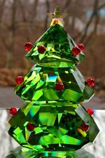 SWAROVSKI Crystal Green Christmas Tree Figurine #5223606 New in Box