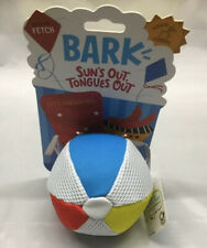 BARK Beach Ball Dog Toy Play Fetch & Water Resistant For Med.- Large Dogs