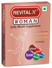 (3x10Tab) Revital-H Women Tablets Daily Health Supplements With Calcium,Vitamins