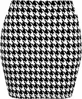 WOMENS LADIES LEOPARD TARTAN SKULL STRETCH SHORT MINI PENCIL SKIRT PLUS SIZE8-20
