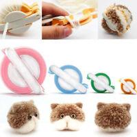 4 Size Pom pom Maker set Fluff Ball Weaver Needle Knitting Craft bobble UK