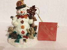 Christopher Radko Carlton Snowman Woodland Winds figurine 1998 with box Retired
