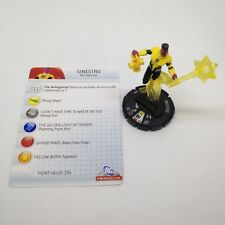 Heroclix DC75th Anniversary set Sinestro #060 Super Rare figure w/card!