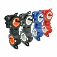 360° Rotation Bike Flashlight Holder Mount Clip Clamp For Head Light Lamp Torch