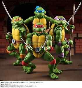 TMNT Teenage Mutant Ninja Turtles ActionFigure Set 4 S.H.Figuarts Bandai Tamashi