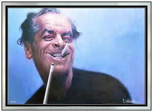 Sebastian Kruger Large Hand Embellished Giclee on Canvas Jack Nicholson Signed
