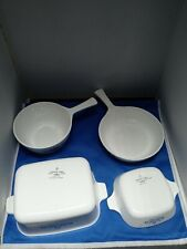 Vintage Corning Ware lot of 4 no lids