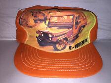 Vtg Jeep Snapback hat cap rare 80s MADE IN USA 4x4 cj wrangler off road trucker