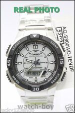 AQ-S800WD-7E White Casio Watches Tough solar 5 alarms World time Stopwatch Steel