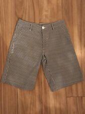 QUICKSILVER Sz 14 (30) Mens Blue & White Striped Denim Shorts 100%Cotton