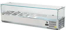 Vetrina frigo cm 120x33 refrigerata  banco pizza BACINELLE INOX COMPRESE