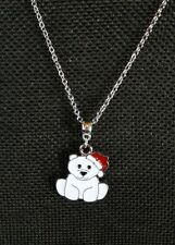 with Santa Hat Charm Necklass Jewelry Sale! Adorable Christmas Baby Polar Bear