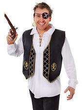 Pirate Captain's Deluxe Waistcoat One Size Unisex Fancy Dress Bucaneer Caribbean