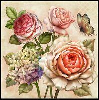 Miscellaneous Flowers - DIY Chart Counted Cross Stitch Patterns Needlework DMC