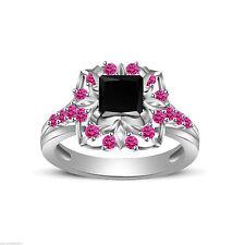 Diamond Wedding Sterling Silver Fine Gemstone Rings